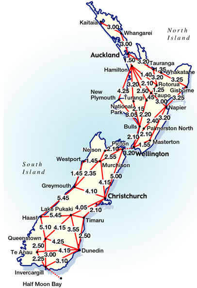 Driving Distances &amp; Times in New Zealand